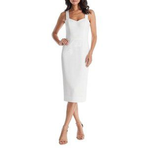 DRESS THE POPULATION Nicole Cocktail Dress Off White XX-Large (14-16) NEW